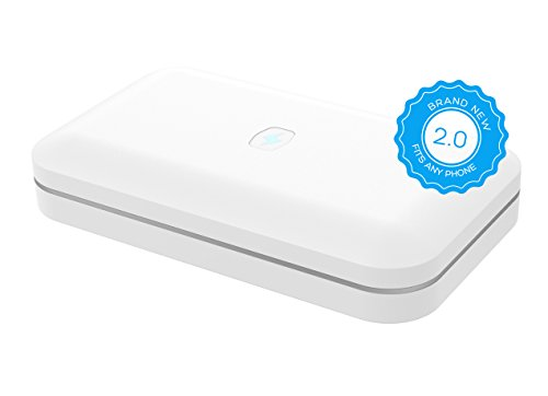 PhoneSoap 2.0 UV Sanitizer and Universal Phone Charger Now Fits iPhone 6S Plus and Phablets – White