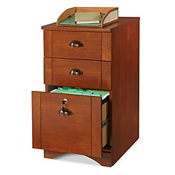 Realspace(R) Dawson 3-Drawer Vertical File Cabinet, 29in.H x 15 1/2in.W x 21 3/4in.D, Brushed Maple