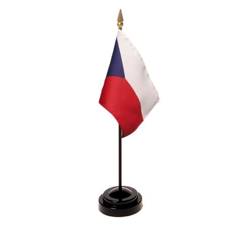 Czech Republic Flag 4X6 Inch Mounted E Gloss