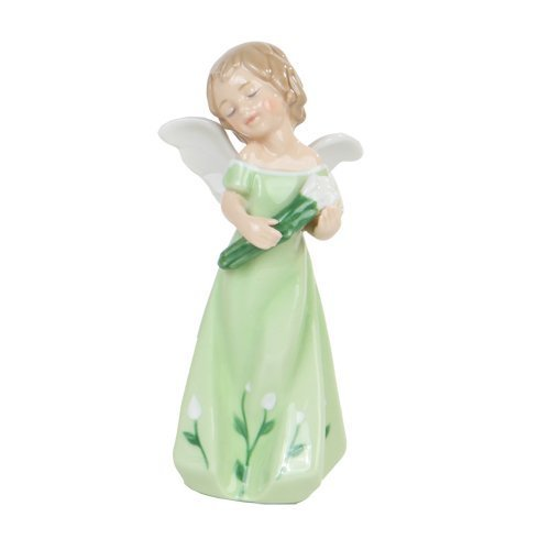 - Pacific Giftware Calla Lilly Floral Angel Girl Religious Statue Fine Porcelain Figurine, 5.25