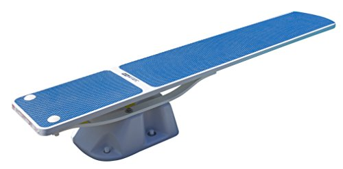 (S.R. Smith 68-207-5782B Salt Pool Jump System-8-foot Diving Board and Stand, 8 feet, Radiant White w/Blue TrueTread)