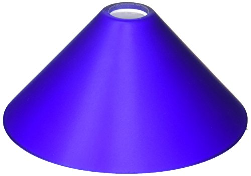 WAC Lighting G512-BL Glass Shade Jill, Blue (Barrel Shade Pendant)