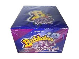 Bubbaloo Mora Azul Blue Berry Mexican Chewing Gum - 1 Pack 50pcs ()