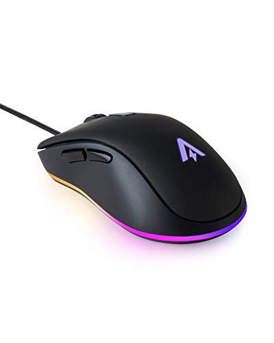 Anker Gaming Mouse with 6Dpi Levels (800, 1600, 2400, 3200, 4800, and 6400), 1000 Hz Polling Rate, Programmable Buttons, Ergonomic USB Computer Mouse, RGB Gamer Desktop Laptop PC Gaming Mouse by Anker