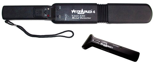 Lumber Wizard 4 Laser Line Metal Detector Wand With Free Little Wizard 2 by Wizard