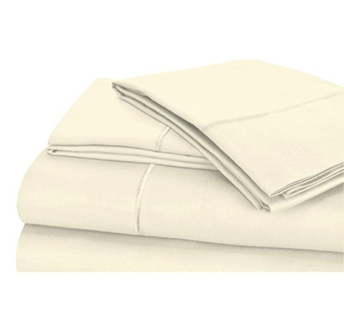 600 Thread Count 100% Long Staple Soft Cotton Sheet Set with BONUS Pillowcases, 6 Piece Set,QUEEN SHEETS, Smooth Sateen Weave,16