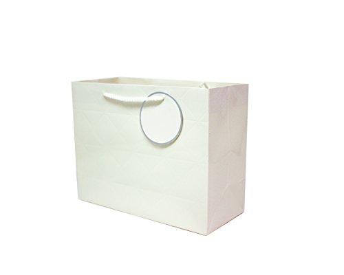 Singular Metallizing Rhombus Embossed Paper Bag (Set of 12) (4 Color Avaliable) (Medium Size (12.2
