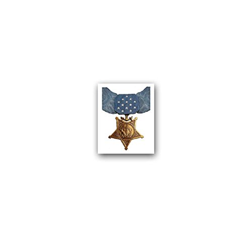 Medal of honor Navy American Army US Army Heroism America Military Award Merit Military Award Merit military badge emblem for Audi A3 BMW VW Golf GTI Mercedes (6x7cm) - Sticker Wall Decoration