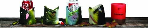 Fish Shaped Can Coolers, Insulated Double Walled 12 Ounce Can Holder