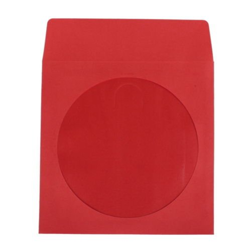 Yens premium thick color paper cd dvd sleeves envelope for 100 paper cd sleeves with window flap