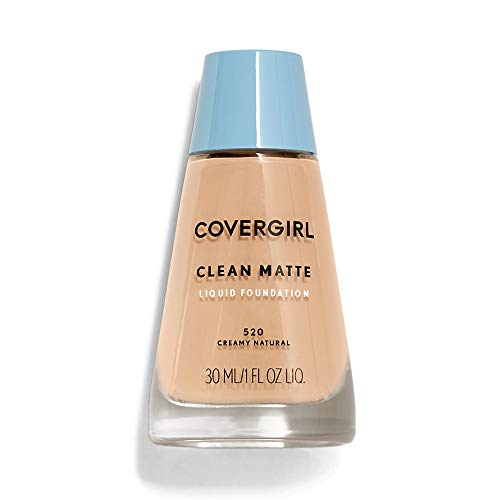 COVERGIRL Clean Matte Liquid Foundation Creamy Natural, 1 oz (packaging may ()