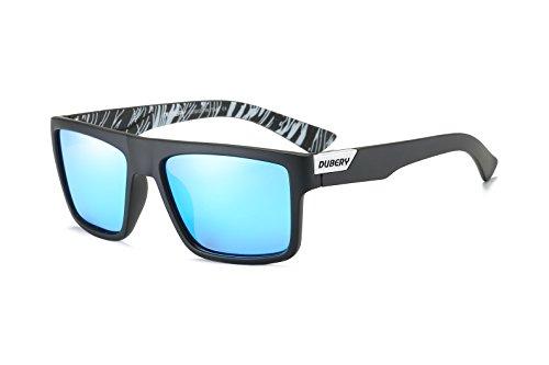 DUBERY Mens Sport Polarized Sunglasses Outdoor Riding Square Windproof Eyewear (#6)