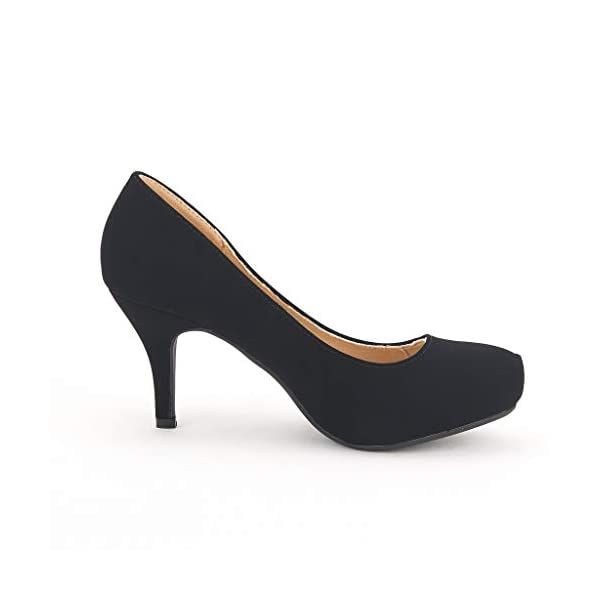 Tiffany Women's New Classic Elegant Versatile Low Stiletto Heel Dress Platform Pumps Shoes