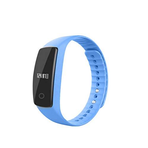 (TangMengYun Smart Bracelet 2 Heart Rate Blood Pressure Monitor Bluetooth Sports Bracelet Waterproof (Color : Blue))
