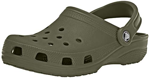 Crocs Classic Clog|Comfortable Slip On Casual Water Shoe, Army Green, 14 M US Women / 12 M US Men