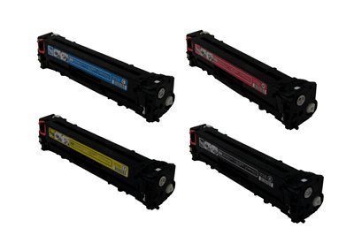 HP CB540A / CB541A / CB542A / CB543A Remanufactured / Compatible Toner Cartridge Set, Office Central