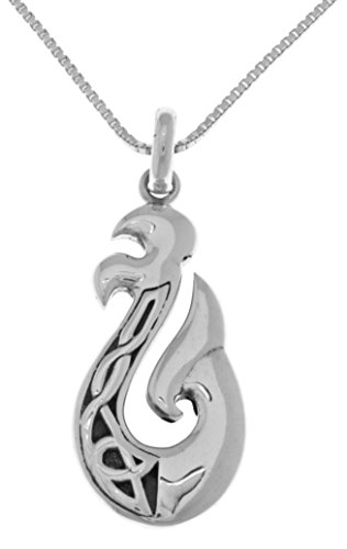Jewelry Trends Celtic Knot Viking Dragon Tail Sterling Silver Pendant Necklace - Dragon Pendant Tail