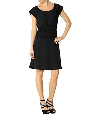 Farbe Kleid Dress Jo 44 Liu Unifarben Damen Schwarz Größe Mikrofaser vwIv8n