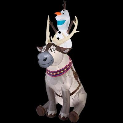 Sven Costume For Dog (Gemmy Airblown Inflatable Olaf Sitting on Sven The Reindeer - Christmas Frozen Yard Decoration Props, 7.5-foot Tall x Over 4.5-foot Depth)