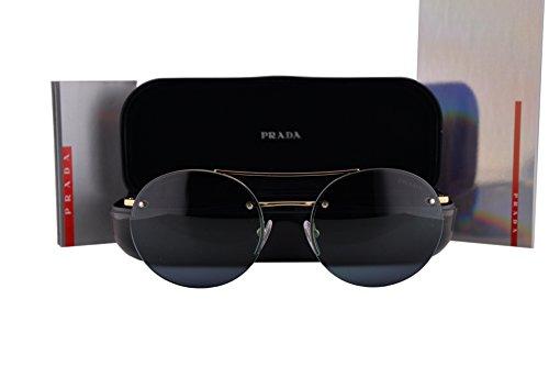 Prada PS54RS Sunglasses Pale Gold w/Blue Gradient Lens ZVN5T2 - Mirrored Prada Aviators