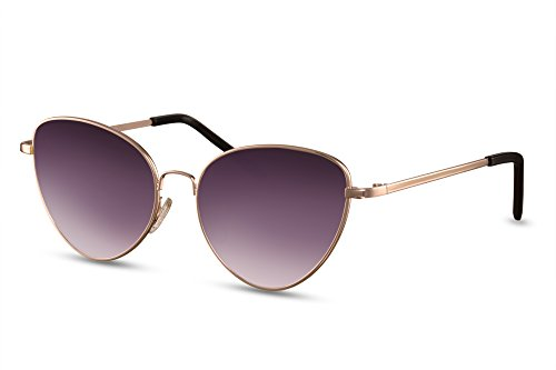 Redondas Metálica Sol Cheapass Ojo de de Montura Silver1 Gato Mujer UV400 Gafas vwvI6qfxWO