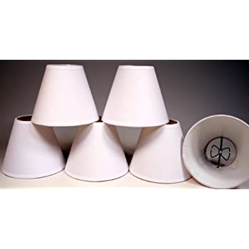 Creative Hobbies Small 4 Inch, Cream Color Linen Fabric Lamp Shades for  Chandeliers, Sconces
