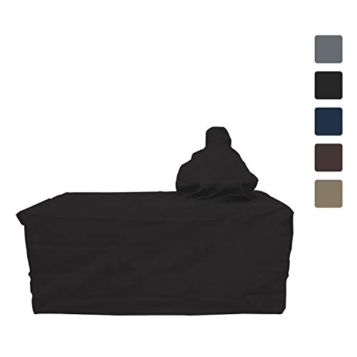 "Big Egg Grill Outdoor Patio Covers - Waterproof,12 Oz Both Side PVC Coated - All Weather Resistant Fabric - Patio Furniture Covers with Drawstring for Snug fit (72"" L x 30"" D x 52"" H, Black) -  Covers & All"