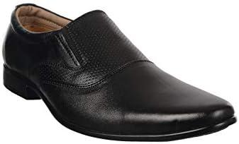 The Gene Shop Men's Premium Genuine Leather Formal Black Shoes for Men