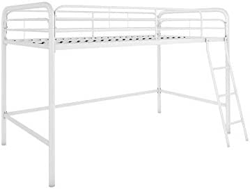 DHP Junior Loft Bed Frame With Ladder, White