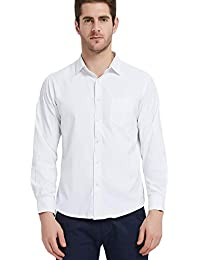 Men's Dress Shirt Cotton Non Iron Long Sleeve Spread Collar Button Up
