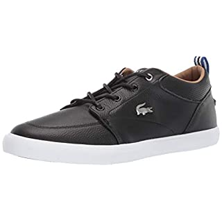 Lacoste Men's Bayliss Sneaker, Black//White, 10 Medium US