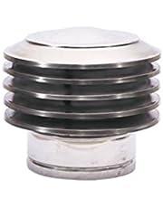 Láminas campana láminas pieza adicional cubierta de láminas sombrero chimenea acero inoxidable cubierta para chimenea accesorio para chimenea