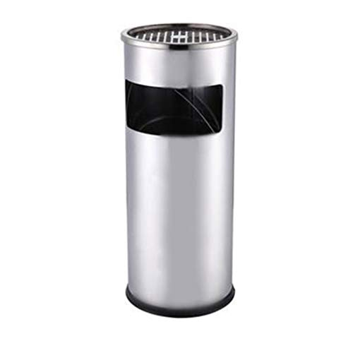 Trash can Lobby Stainless Steel Trash Can Hotel Vertical Ashtray Barrel Clubhouse Mall Corridor Elevator Exit Smoke Barrel