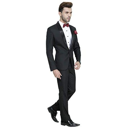 31T 39mGYuL. SS500  - MANQ Men's Slim Fit Tuxedo Suit (Pack of 2)