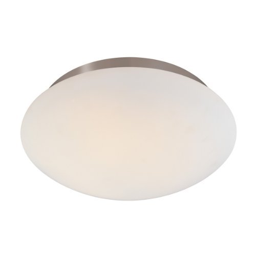 - Sonneman 4153.13, Mushroom Round Tall Flush Mount Ceiling Lighting, 2 Light, Satin Nickel by Sonneman