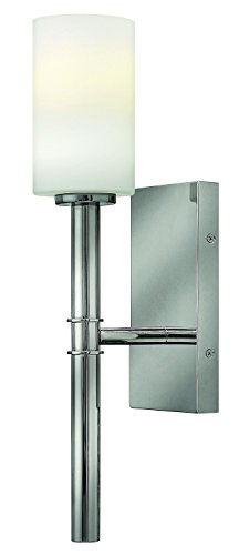 Hinkley Chrome Sconce (Hinkley 3580PN Transitional One Light Wall Sconce from Margeaux collection in Chrome, Pol. Nckl.finish,)