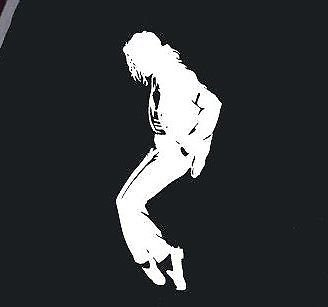 LA DECAL Michael Jackson Silhouette Decal Sticker Window car truck SUV 6