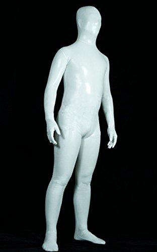 Enganliegende Overalls in Weißleim, Bühnenkostüme,XXL,Weiß