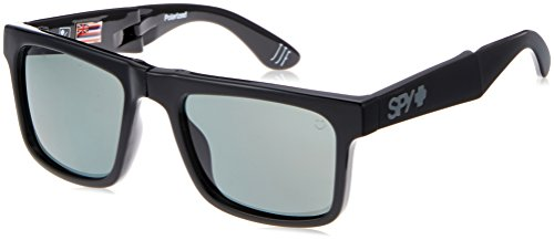 Spy Optic The Fold 673174034864 Polarized Flat Sunglasses, 54 mm (Black/Happy Gray/Green - Ken Block Spy Glasses