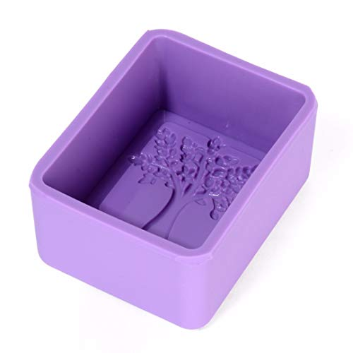 Eaglers Soap Mold Silicone Life Tree Rectangle Soap Mold Craft Kitchen Cake Baking Molds DIY Handmade Silicone Mould Multifunction Random Color