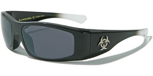 BIOHAZARD OPTICS NEW MENS BOATING SUNGLASSES (BLACK/WHITE - Biohazard Sunglasses