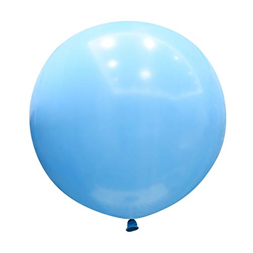 Neo LOONS 36 Inch Giant Latex Balloons, Standard Light Blue Round Balloons for Birthdays Weddings Receptions Festival Party Decoration, Pack of 5 Pcs -