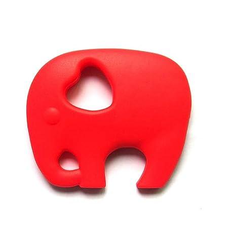Momangel Baby Beißspielzeug Silikon Elefant Anhänger Mutter Halskette Schnuller Baby Beißring Spielzeug