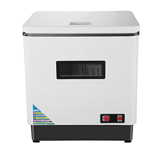 Automatic Compact Countertop Dishwasher, 12L Portable Mini Dish Washer for Small Apartment, Restaurant and Home Kitchen, In Stainless Steel