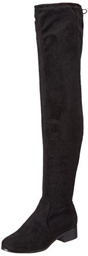 Bullboxer Schwarz 025502f7t Mujer Black plisadas Botas Rxn6rPqR