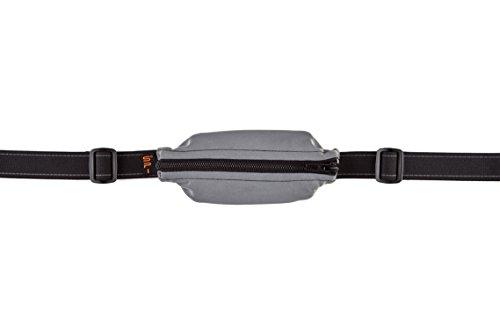 Spibelt Uni Original with Black Zipper Esecuzione tasche, Argento riflettente, S XL