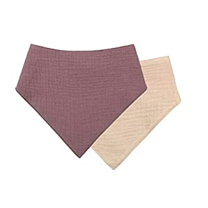 (3 pieces) baby cotton bib, newborn double-sided solid color, triangle scarf, feeding saliva, towel, handkerchief…