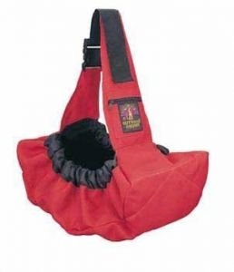 Outward Hound Sling Go Pet Carrier Red for Pets up to 20lbs