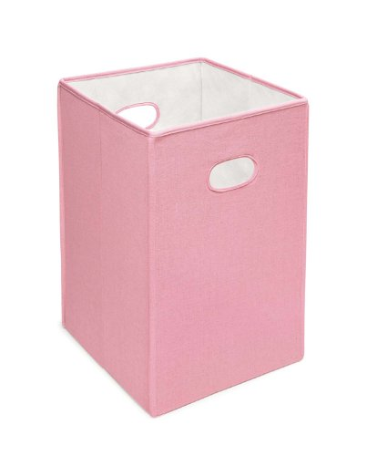 Folding Square Fabric Laundry Hamper or Storage and Toy Bin from Badger Basket