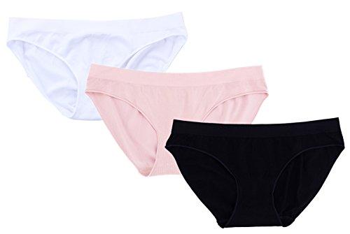 Bamboo Panties - Fispo Women's Bamboo Bikini Briefs, Seamless